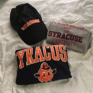 Tops - Syracuse University apparel bundle.SU hat & shirts